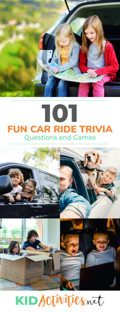 101 Fun Car Ride Trivia Questions and Games - Kid Activities