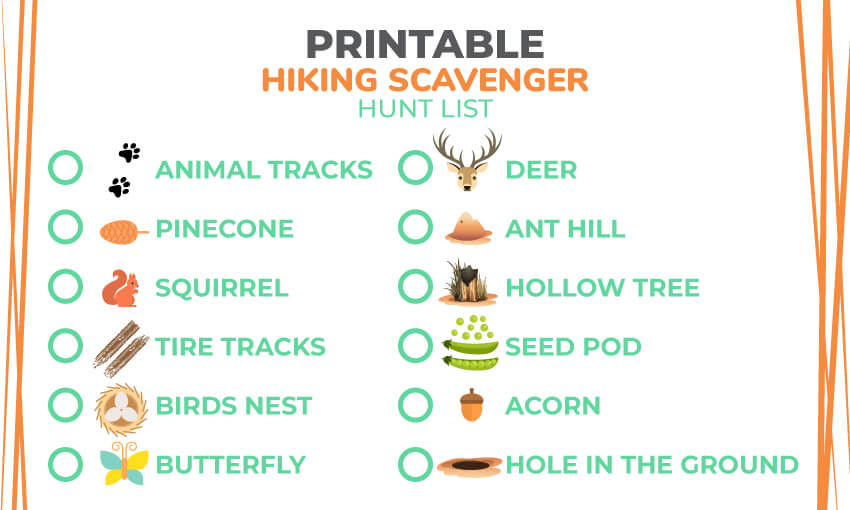 graphic about Outdoor Scavenger Hunt Printable titled Printable Character Scavenger Hunt Checklist 121 Character Merchandise