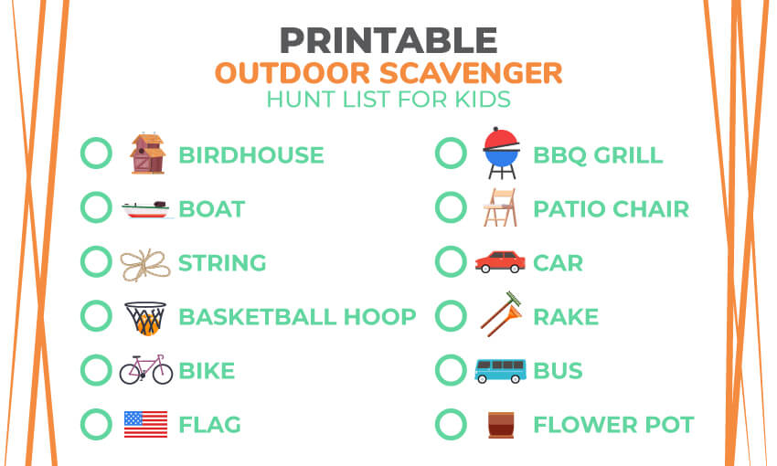 picture regarding Printable Scavenger Hunt named Printable Mother nature Scavenger Hunt Listing 121 Character Solutions