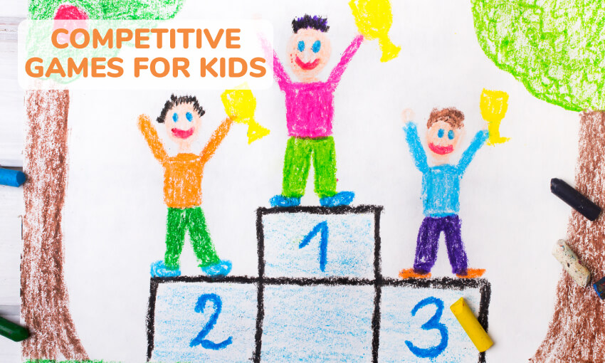 A collection of competitive games for kids.