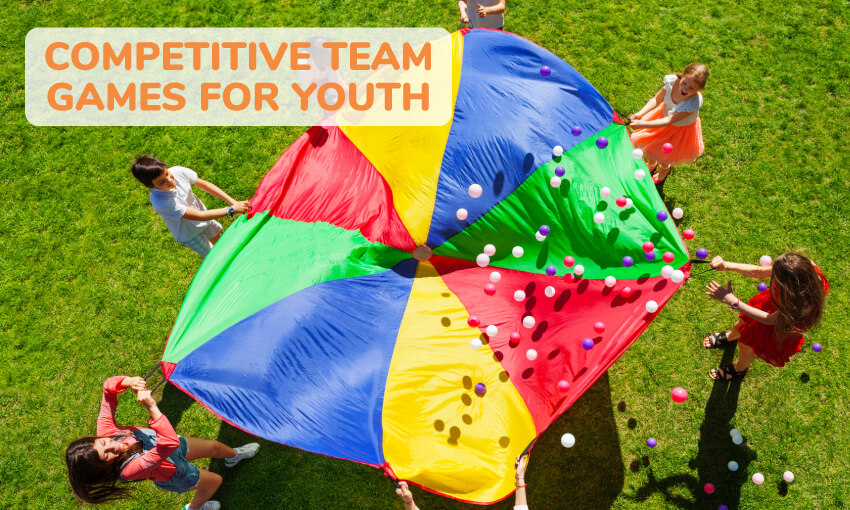 A collection of competitive team games for youth.