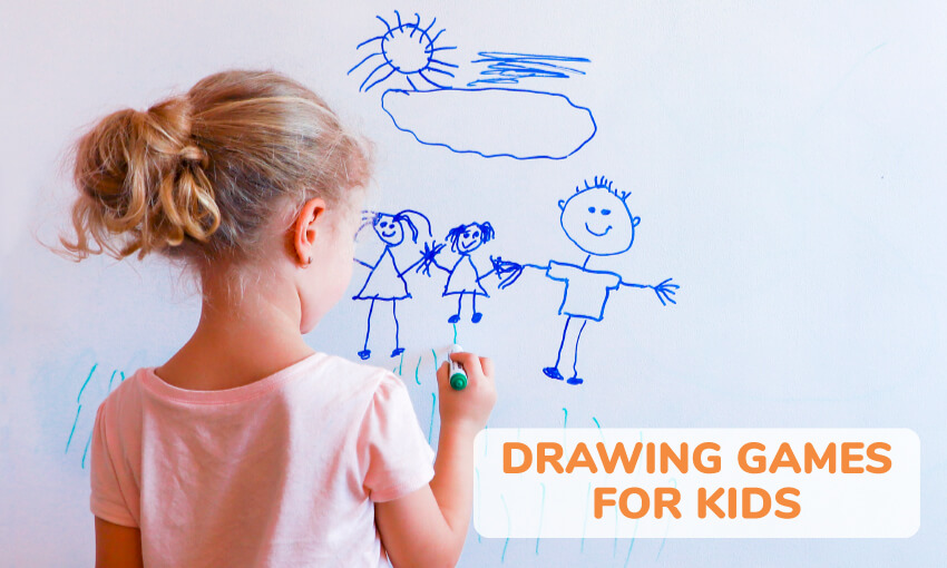 A collection of drawing games for kids.