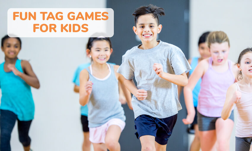 A collection of fun tag games for kids.