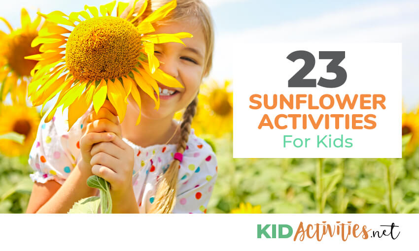 A collection of sunflower activities for kids.