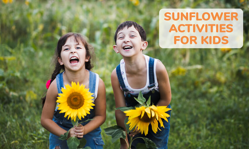 A collection of sunflower activities for kids. Great for the classroom or at home.