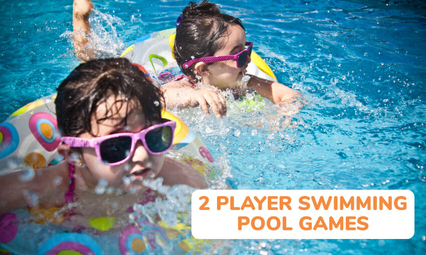 A collection of 2 player swimming pool games for kids.