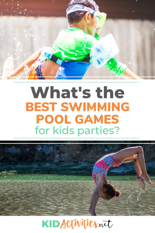 What's the best swimming pool games for kids parties? Find 21 swimming pool game ideas here.