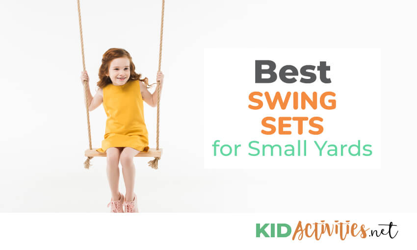 A collection of the best swing sets for small yards.