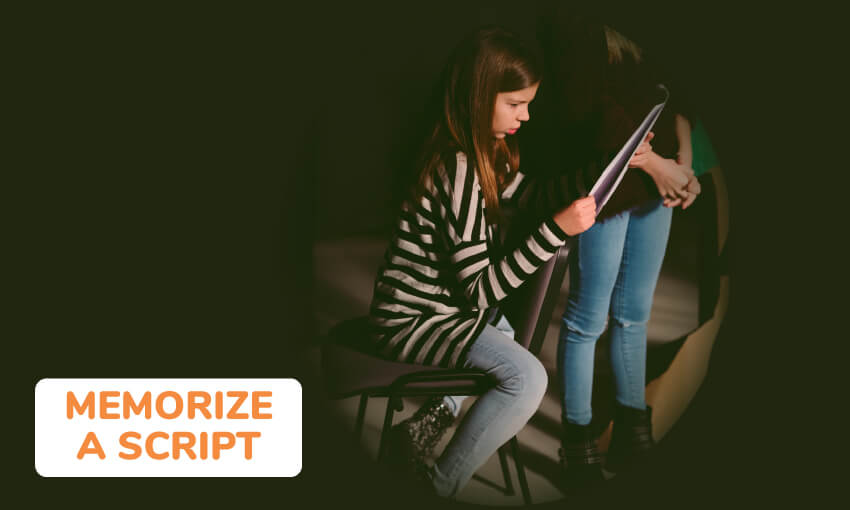 Tips on how to memorize a script for a show or play.