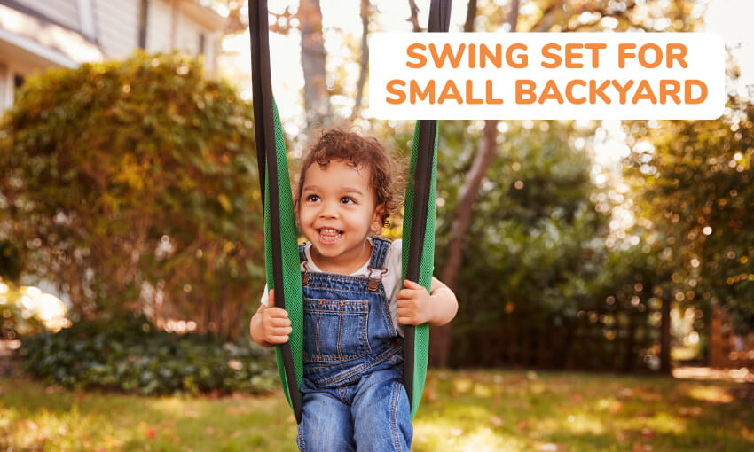 A list of swing sets for small backyards.