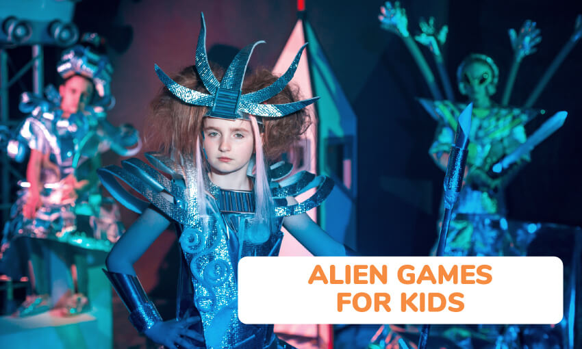 A collection of alien games for kids.