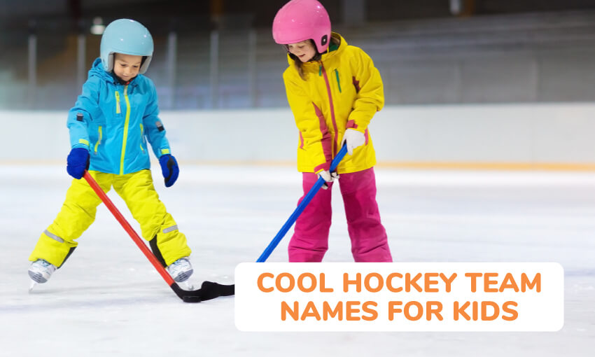A collection of cool hockey team names for kids.