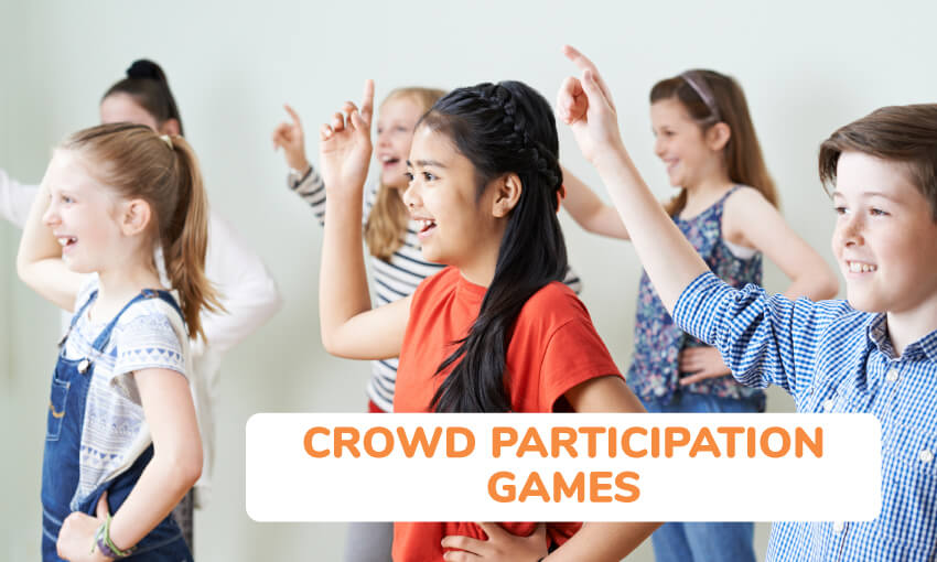 A collection of crowd participation games for kids.