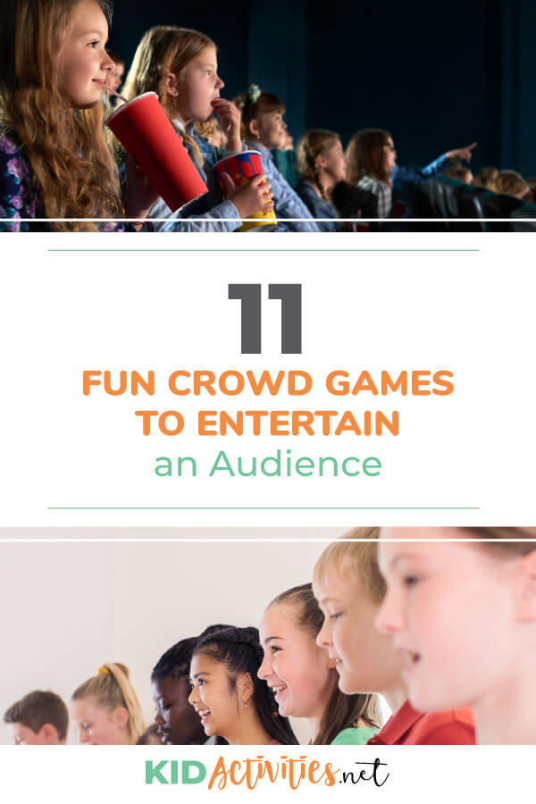 A collection of fun crowd games to entertain an audience. These can make for great transition ideas in-between performances, great party games for big groups of kids, or any event you may need to entertain a large audience of kids.