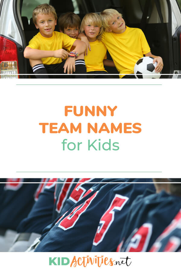 101 Team Names for Kids - Kid Activities