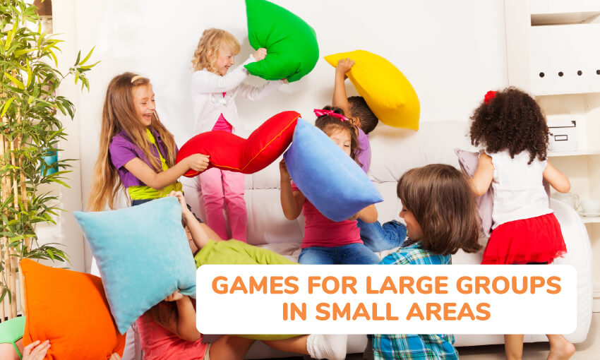 A collection of games for large groups in small areas.