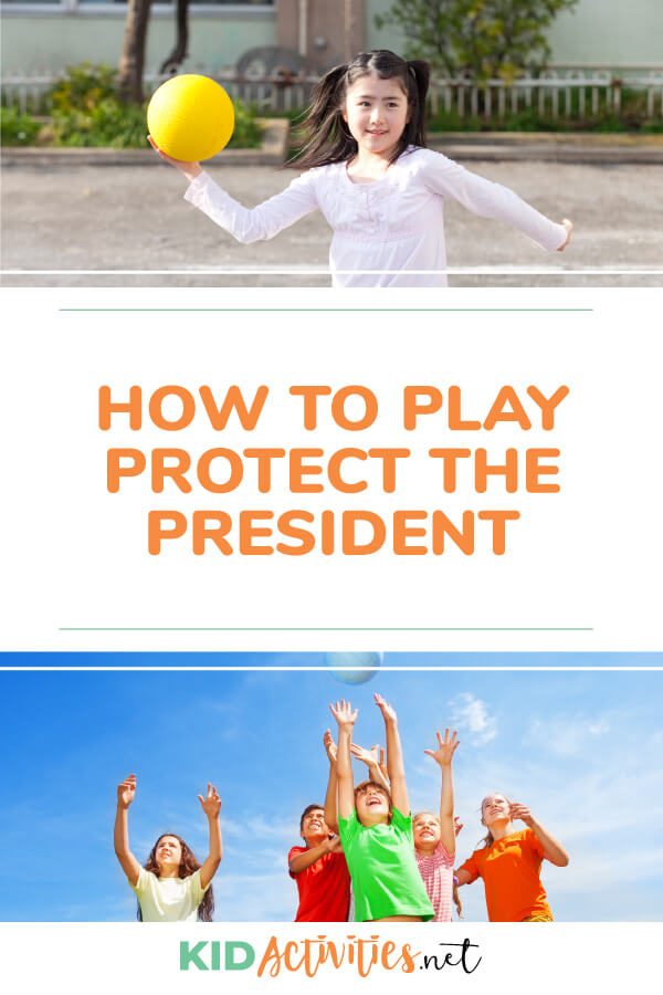 "Get instructions on how to play the fun game ""protect the president."" This game is not only fun but involves plenty of exercise."
