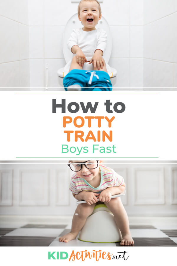 Looking for some tips on how to potty train boys fast? We share our experience with potty training twin boys.
