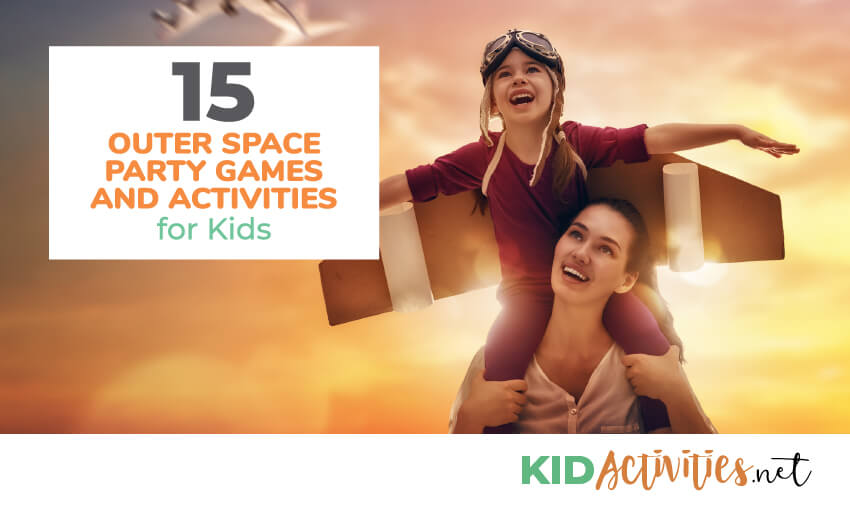 A collection of outer space party games and activities for kids.