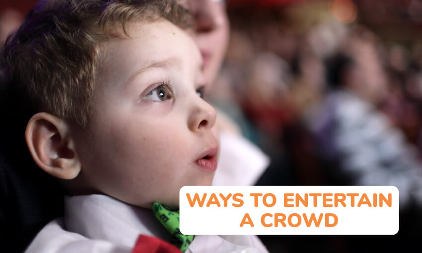 Ways to entertain a crowd of kids.