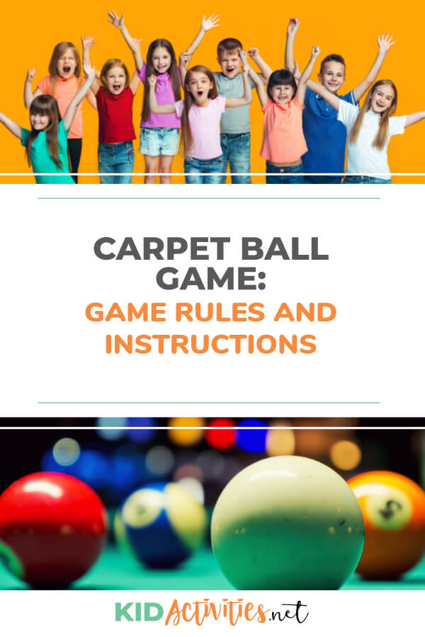 Instructions on how to play the game carpet ball. This is a fun indoor or outdoor activity that can be enjoyed by kids of all ages.