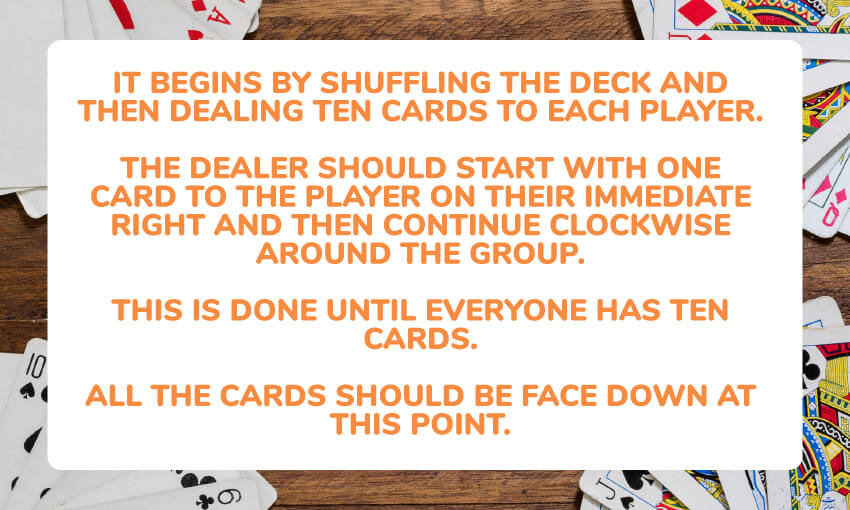 garbage card game instructions.