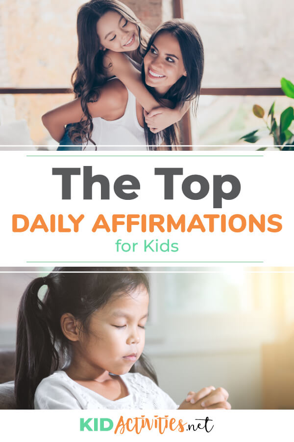 A collection of daily affirmations for kids.