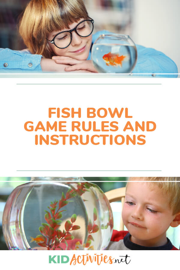 Fishbowl Game rules and instructions.
