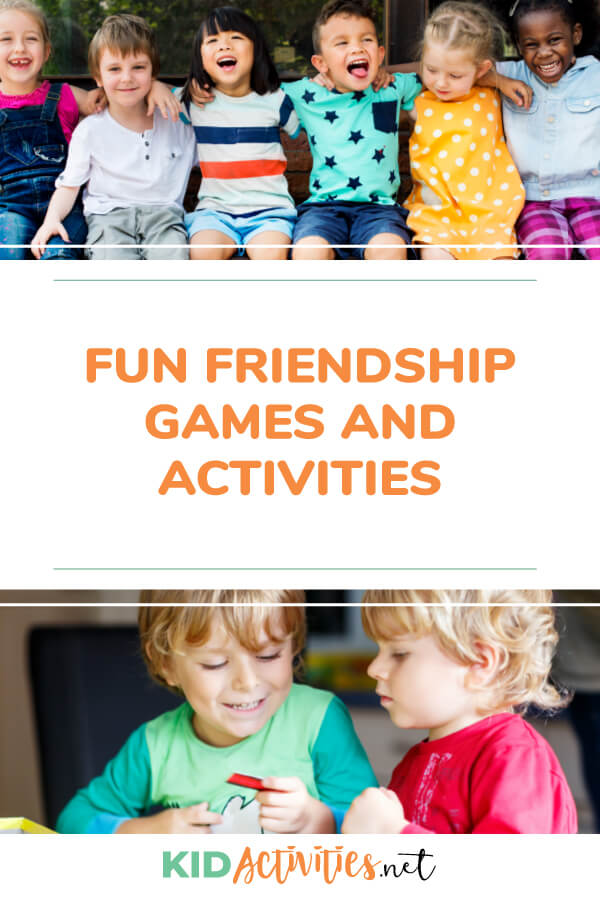 A collection of fun friendship games and activities for kids. Great for a friendship theme day.