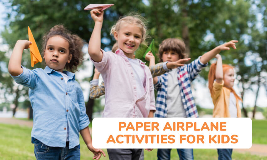 A collection of paper airplane activities for kids.