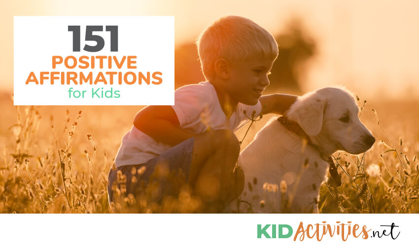 A collection of positive affirmations for kids