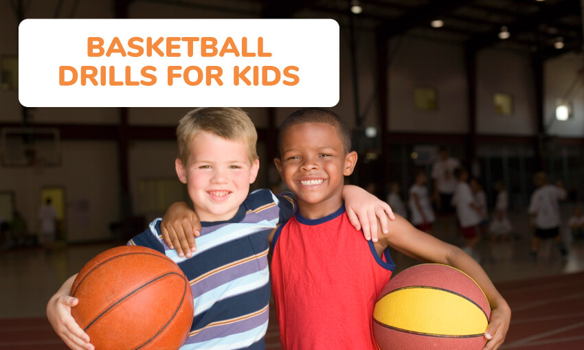 A collection of basketball drills for kids.
