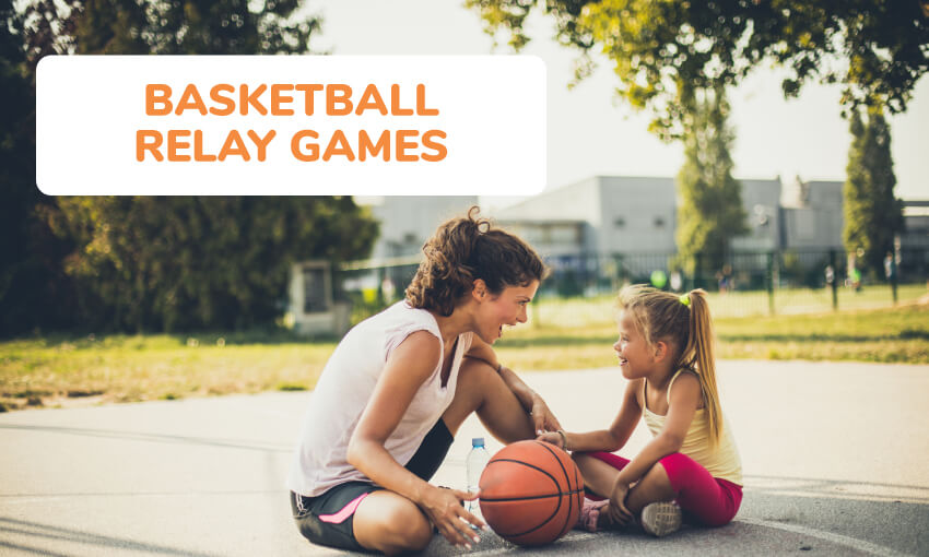 A collection of basketball relay games.