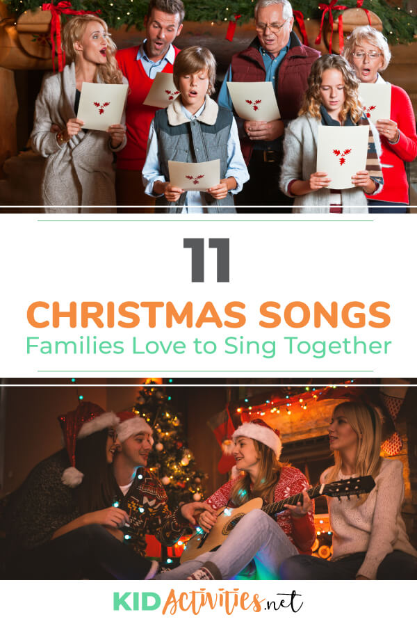 A collection of Christmas songs families love to sing together.