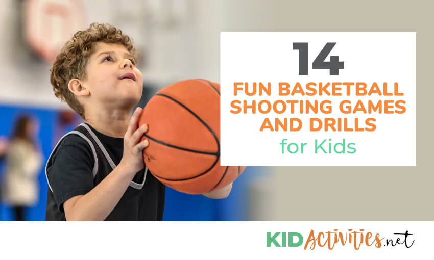 A collection of fun basketball shooting games and drills for kids.