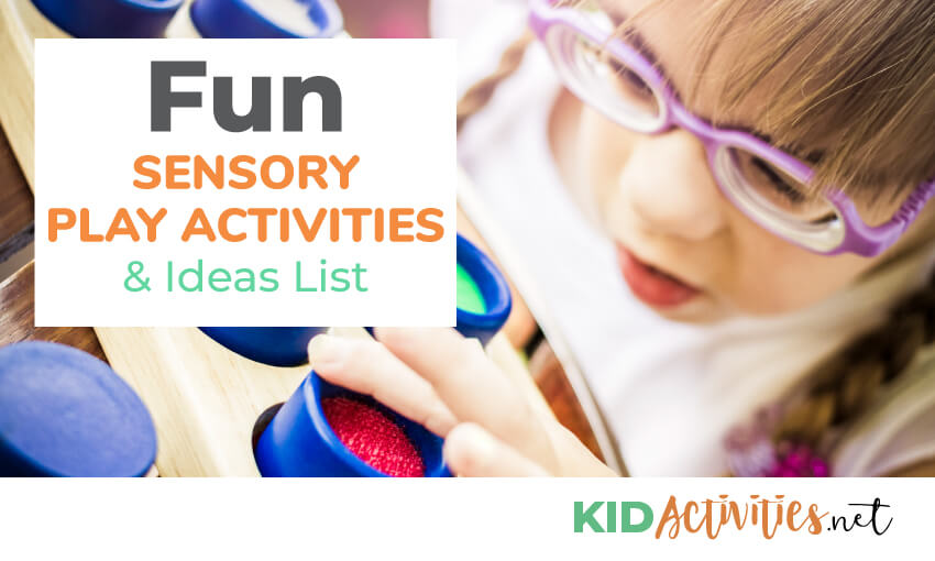 A collection of sensory play activities for kids.