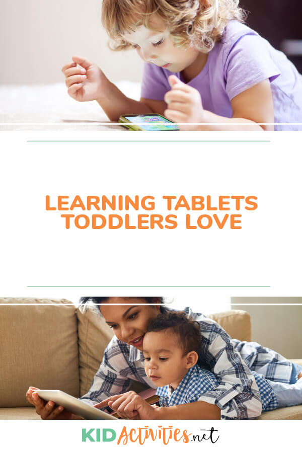 A collection of learning tablets toddlers love.