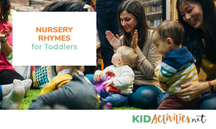 Singing nursery rhymes to toddlers