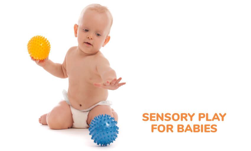 Sensory play for baby ideas.