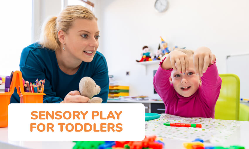 A collection of sensory play ideas for toddlers.