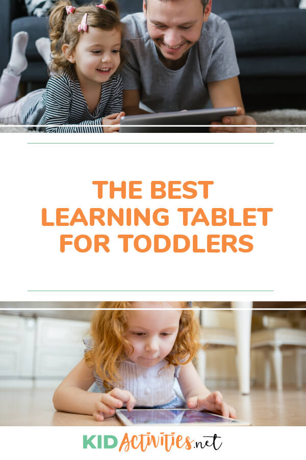 A collection of 5 learning tablets for toddlers.