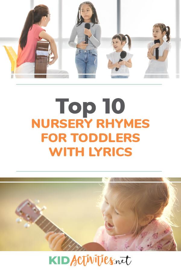 Top 10 nursery rhymes for toddlers