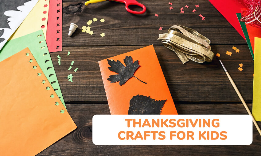 A collection of Thanksgiving crafts for kids.