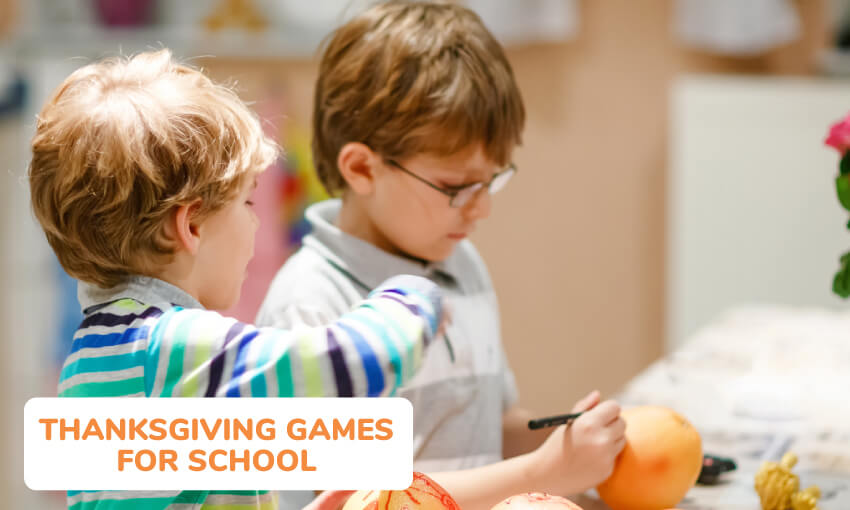 A collection of fun Thanksgiving games for school.